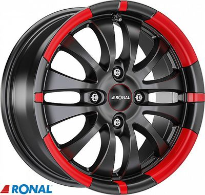 RONAL R59 MB/RED 7,5X17 5X120/45 (65,1) (PKR14) (BRR) (TÜV) KG860